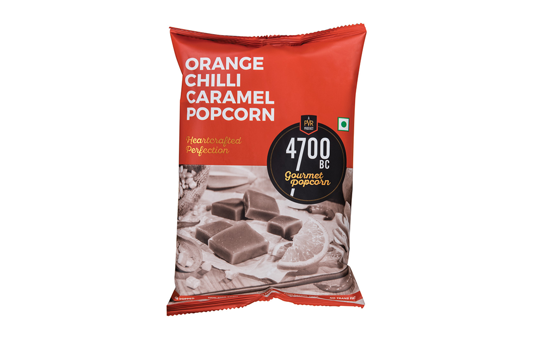 4700BC Orange Chilli Caramel Popcorn Heartcrafted Perfection   Pack  125 grams