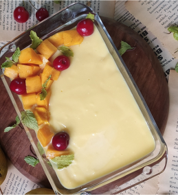 Mango Custard Pudding Recipe