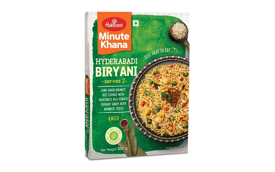 Haldiram's Minute Khana Hyderabadi Biryani   Box  300 grams