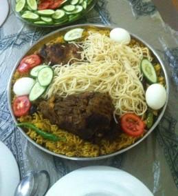 Koozi (Meat, Rice, Noodle and Egg) Arabian Dish