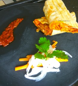 Manchurian Mangalorean Ghee Roast wrap