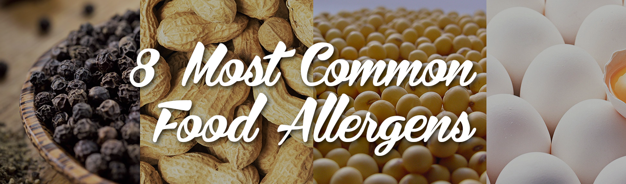 8 common food allergens